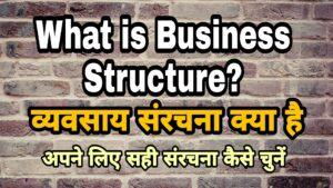 व्यवसाय संरचना क्या है?